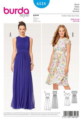 Kleid – Abendkleid – doppellagig – Taillenblende Schnittmuster