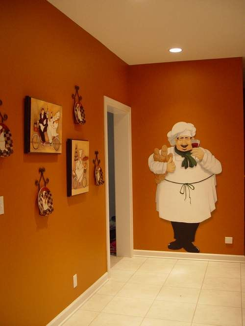 attractive Fat Chefs Kitchen Decor #4: wall sticker to add to fat chef collection in the kitchen