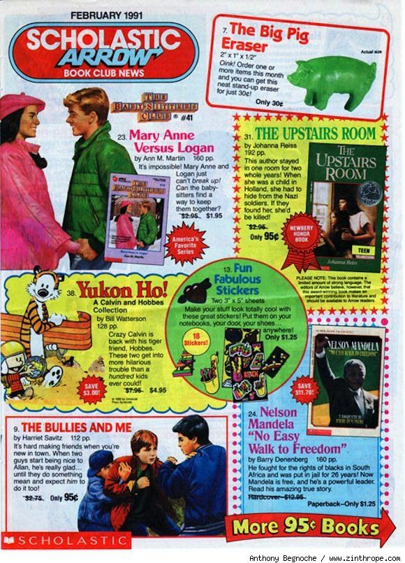 Scholastic Arrow... I think this is where my shopping addiction and addiction to books came from!!!!