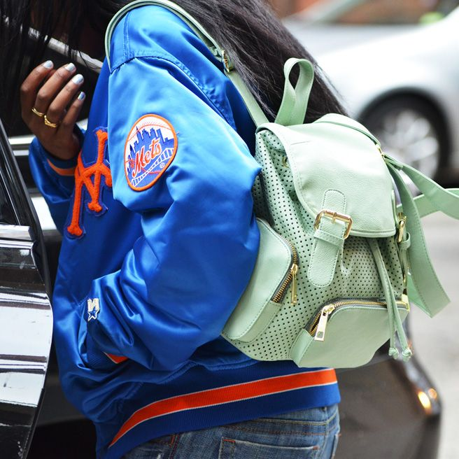 That mint purse/backpack  The Best of Tommy Ton 2012: