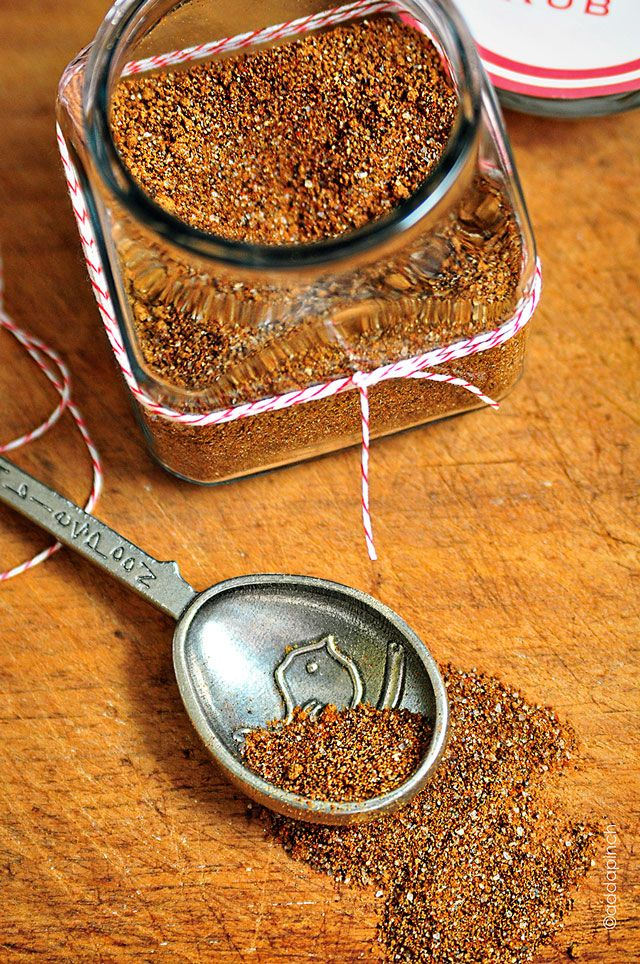 Spicy Dry Rub Recipe via @addapinch Perfect for homemade gifting