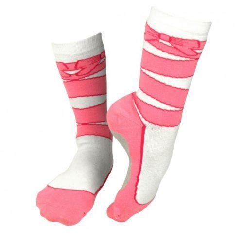 Ballet-Socken-Silly-Socks-Ballettschuhe-Spitzenschuhe-Originelle-Struempfe-rosa