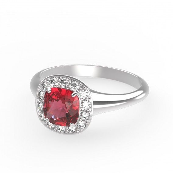 Gemmyo : Bague Mada - Or rose 18 cts, Aigue-marine et Diamants