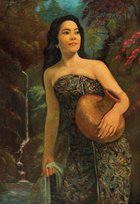 Sumardi (Solo, 1917- 1983), Gadis Membawa Kendil.