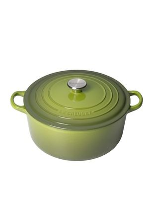 Le Creuset Round Casserole with Stainless Steel knob Spinach - 26cm