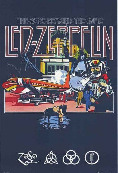 A fantastic Led Zeppelin poster of Pop Art imagery from The Song Remains the Same! Fully licensed - 2012. Ships fast. 24x36 inches. Ramble On over and check out the rest of our great selection of Led