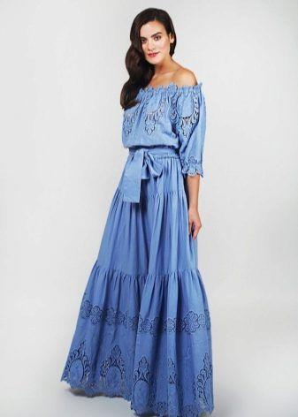 Фасоны длинного платья из шелка