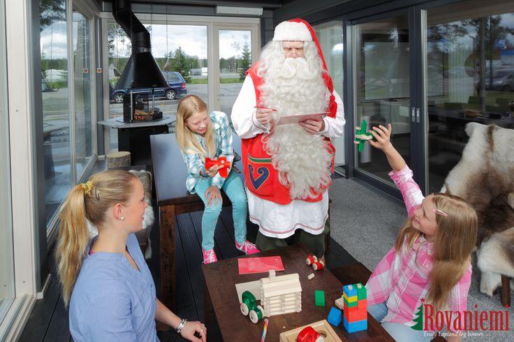 Kieppi –Rovaniemi Log House Head Office. Santa Claus drops by!