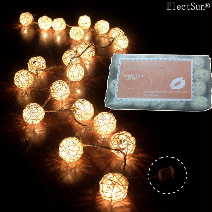 Amazon.com: Storm Cream White Rattan Ball Fairy Lights - Ideal Wedding, Christmas & Party String Lights (1, gold): Home Improvement