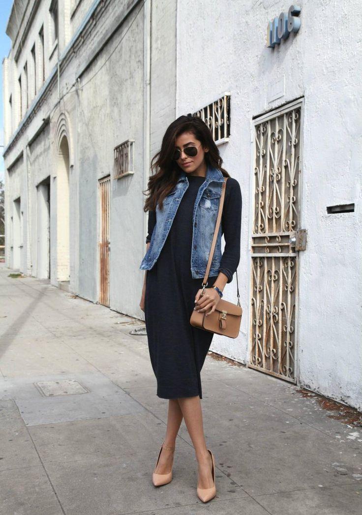 Gilet en jean femme – 20 looks street style inspirants