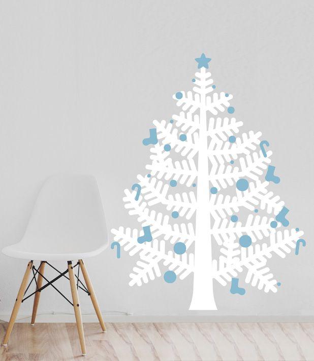 arbol navidad blanco rbol de navidad en sticker una forma original que no ocupa