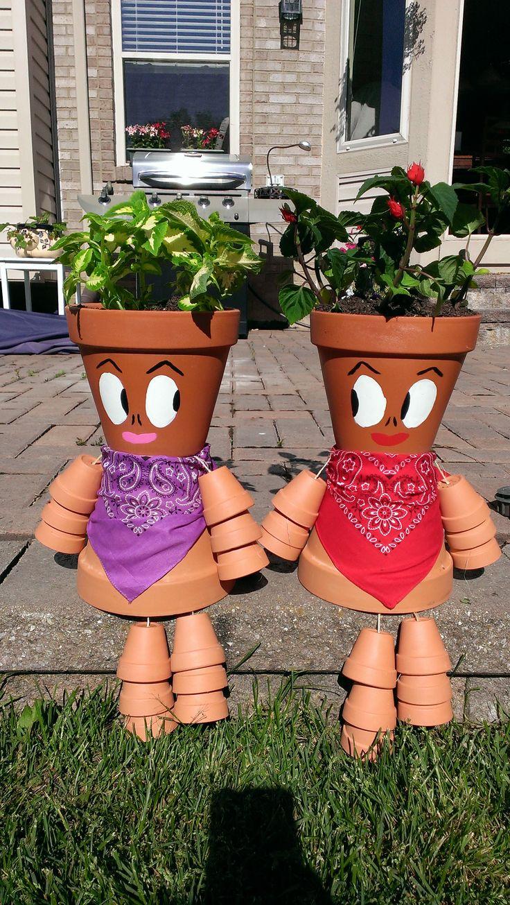 Terra Cotta Pot People 605 best Clay
