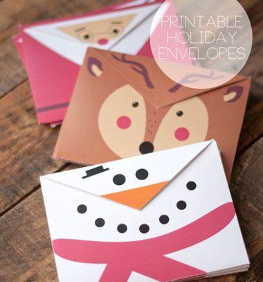 Adorable printable holiday envelopes // Vidám karácsonyi motívumos borítékok ( letölthető mintaívvel ) // Mindy - craft & DIY tutorial collection
