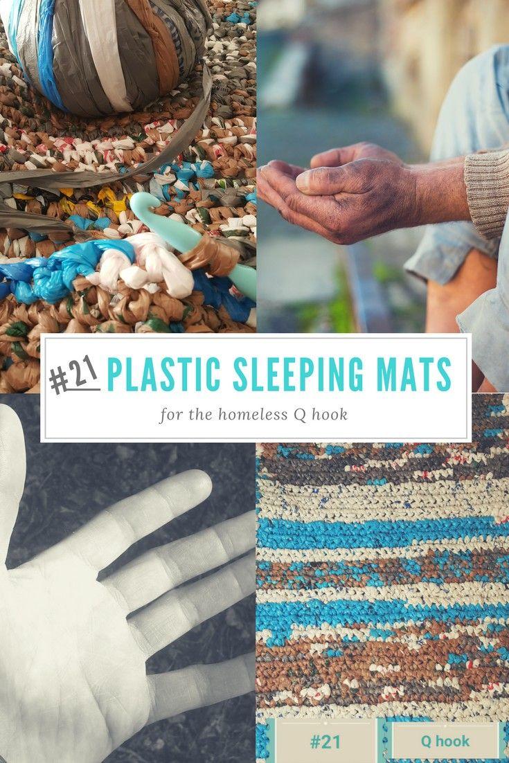 Crochet Plastic Bag Sleeping Mats For The Homeless Plastic Bag Crafts Plastic Bag Crochet Recycled Plastic Bags