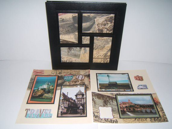Travel Photo Album Vacation Scrapbook Album Premade Travel