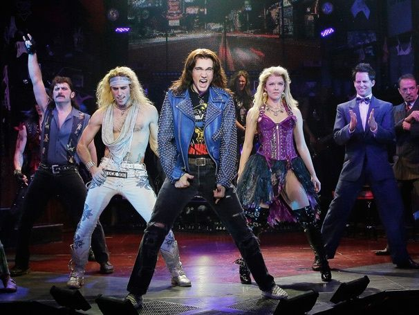 Photo 1 of 15 | The cast of Rock of Ages. | Rock of Ages: Show Photos | Broadway.com