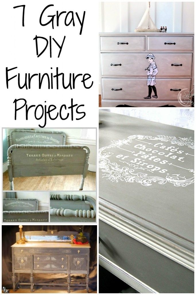 7 Painted Gray Furniture DIY Projects - The Graphics Fairy