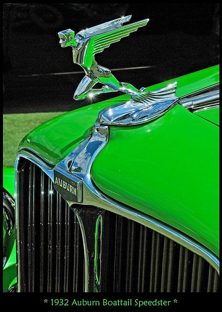 I know hood ornaments were dangerous, but I still think they could be really classy. 1932 Auburn Boattail Speedster Hood Ornament
