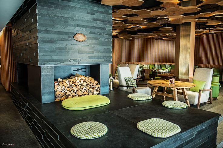 Unsere Lounge mit Kamin #goldenerberg #lech #arlberg