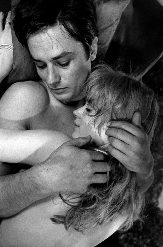 Alain Delon and Marianne Faithfull