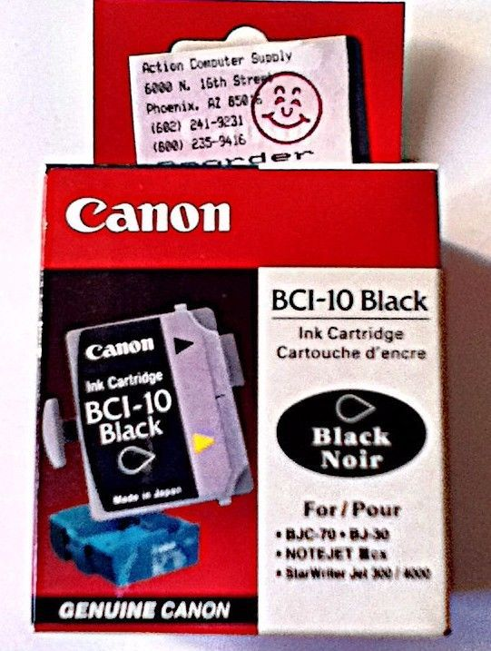 Canon Ink Cartridge BCI-10 Black 3 Cartridges #Canon