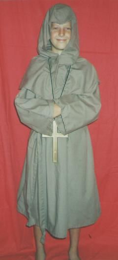 Medieval Monk  Size 8-10