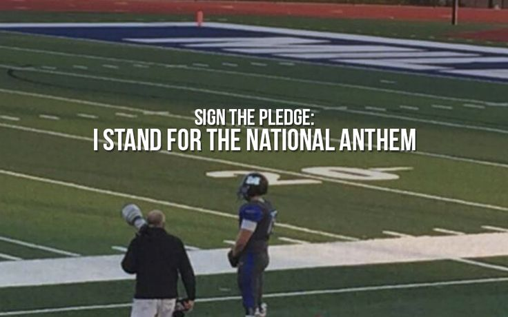 """I Stand for the National Anthem - I'm proud to be an American and I'm proud of """"The Star-Spangled Banner."""" Whenever, wherever I hear it being played, I will stand respectfully during its playing. It's our nation's song and want everyone to know, I Stand for the National Anthem! **CLICK TO SIGN-->"""
