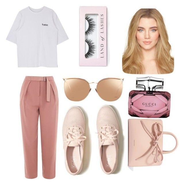 """""""😍"""" by alice12 on Polyvore featuring Topshop, Hollister Co., Mansur Gavriel, Linda Farrow, Gucci and Boohoo"""