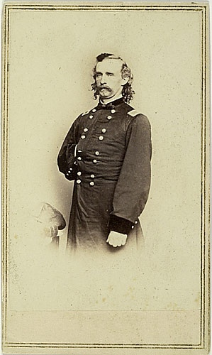 CDV of George Armstrong Custer.  (Mathew Brady Studio portrait).