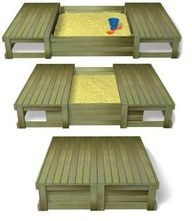 sliding sand box. GENIUS