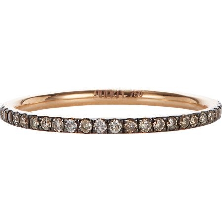 Champagne Diamond and Pink Gold band