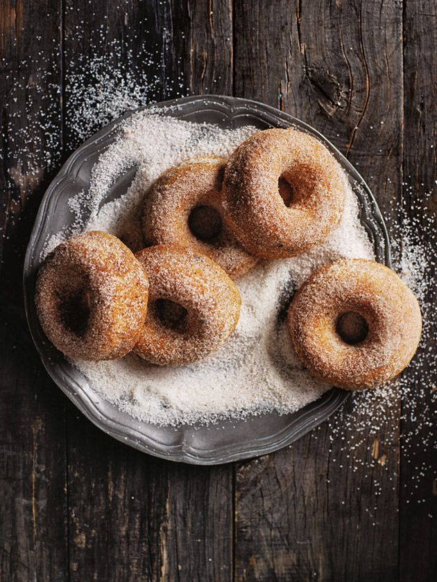 date doughnuts with spiced sugar
