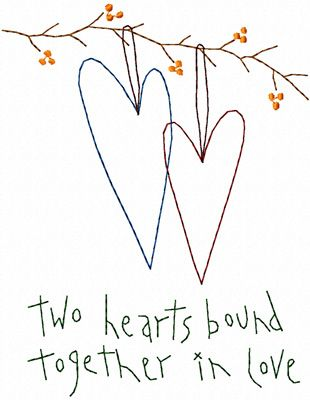 Two Hearts .......Personalized- *this would make a cute WEDDING GIFT