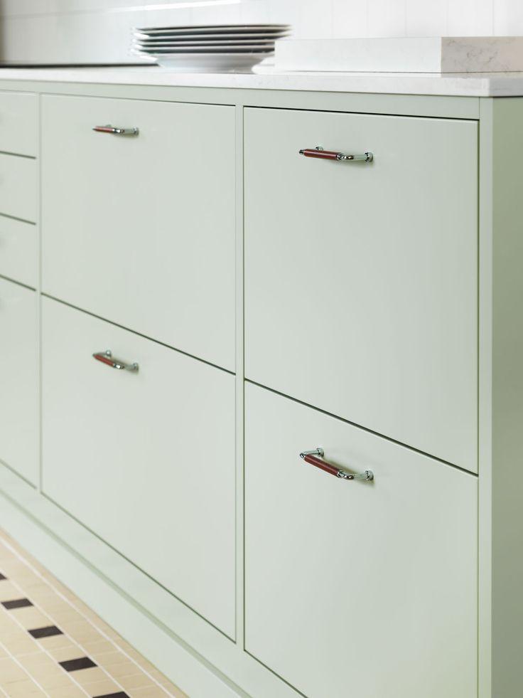 Kjøkkeninspirasjon -  Slett kjøkken i landlig stil - Bistro