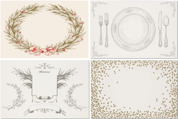 Vintage Paper Placemats for Christmas, Thanksgiving and Holidays via @LaylaGrayce Blog #laylagrayce #holidays