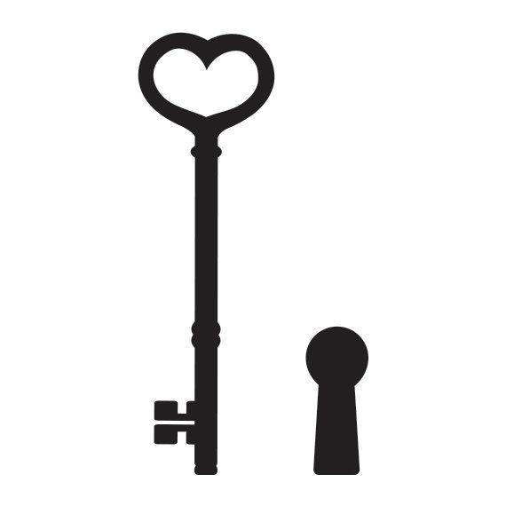 Cosecha tatuaje temporal llave y cerradura. Diseño de por Tattoonky
