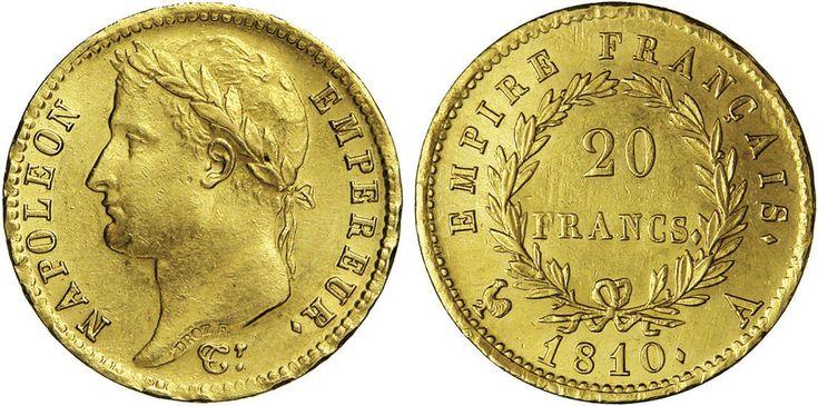 NumisBids: Numismatica Varesi s.a.s. Auction 65, Lot 726 : NAPOLEONE I (1804-1814) 20 Franchi 1810 A (Parigi) Kr. 695.1 ...