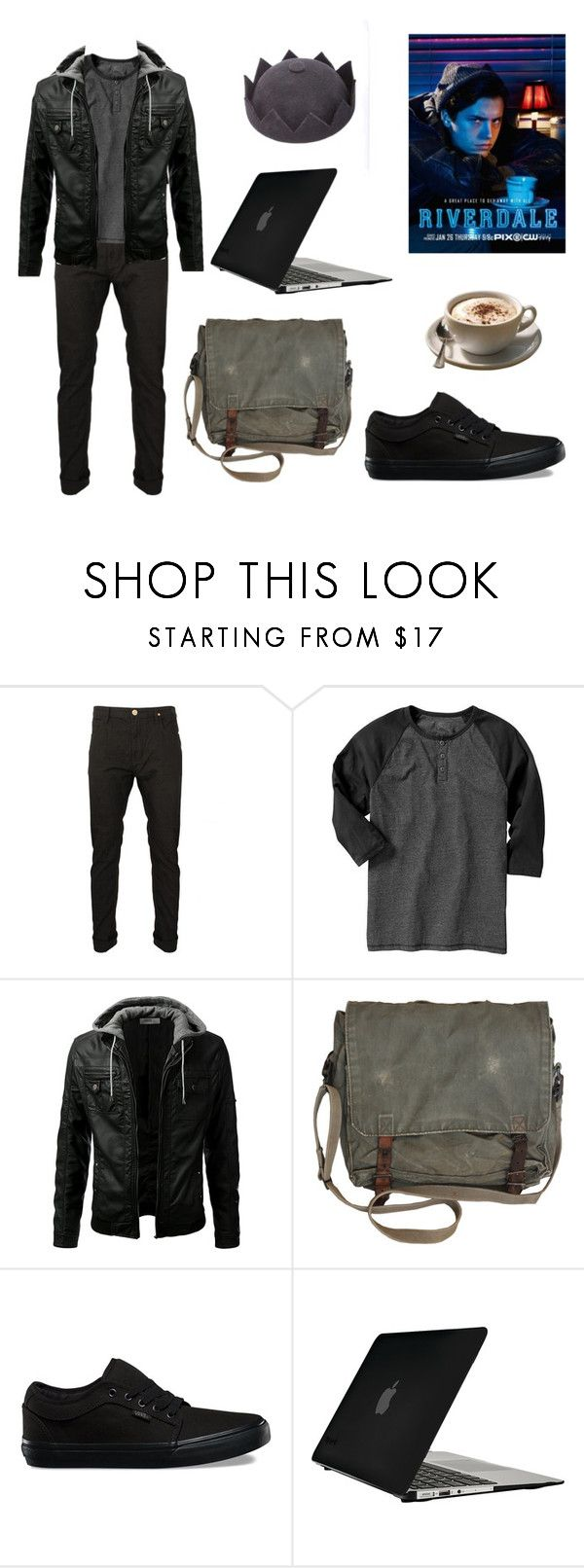 """""""RIVERDALE: JUGHEAD JONES"""" by twyzter ❤ liked on Polyvore featuring Old Navy, Vans, Speck, men's fashion and menswear"""