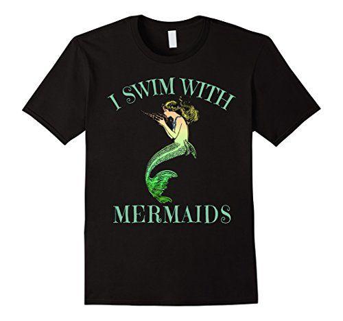 I Swim with Mermaids Fantasy Art Tee by Scarebaby - Male…