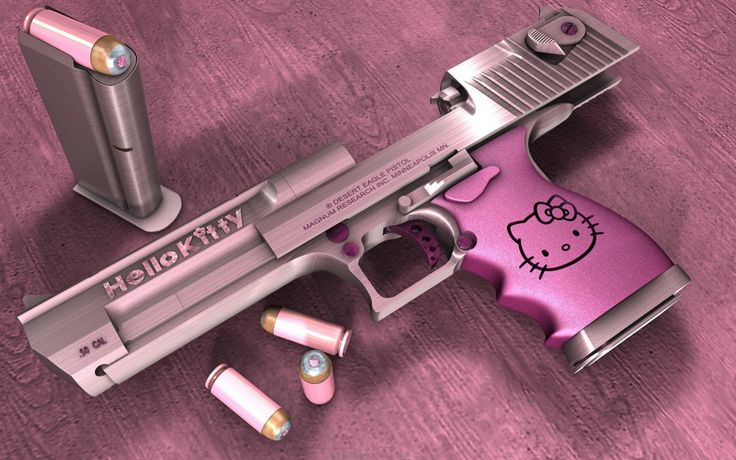 """Taking """"Fatal Attraction to Cuteness"""" to a different level. Ok. This IS girly cute but personally wouldn't want to own one. Don't quite think handguns or long guns should be """"adorable"""". Not to mention a kid mistaking it for a toy :("""