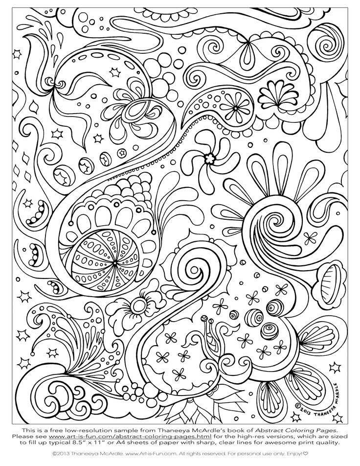 Free Printable Abstract Coloring Pages for Adults | Free Abstract ...