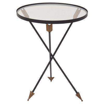 DecMode Round Arrow Accent Table - 91932, UMA6156-1