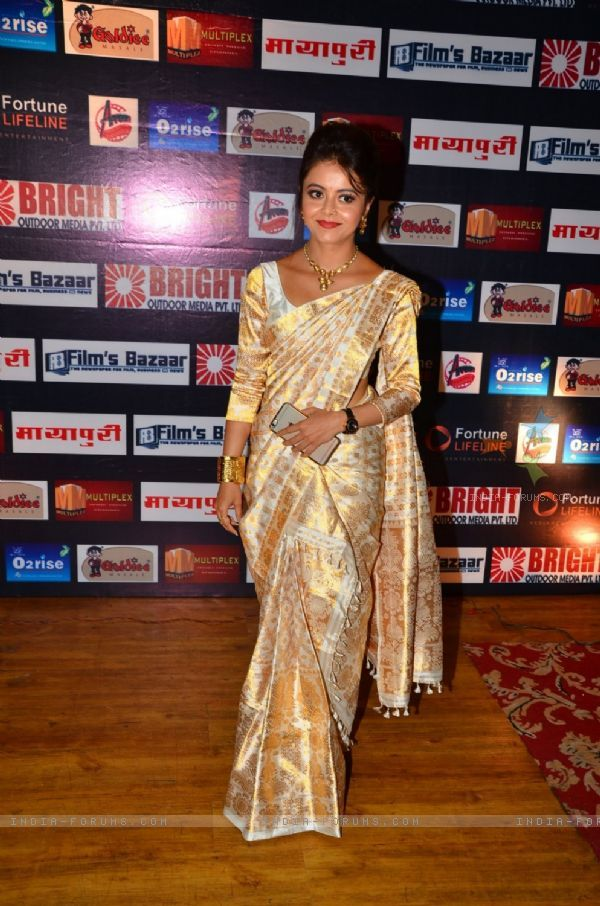 #DevoleenaBhattacharjee in a #TraditionalLook at Dada Saheb Phalke Awards