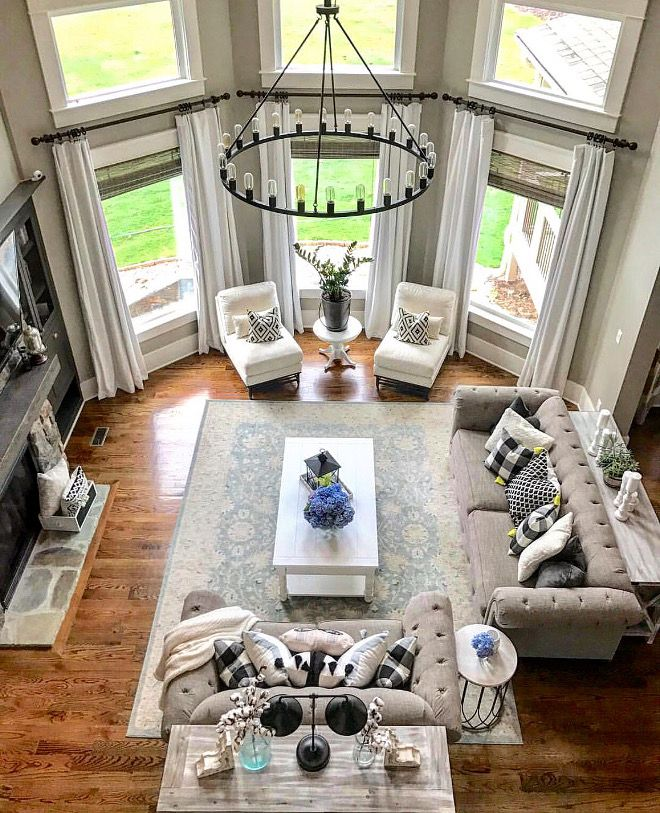 Great Room Furniture Layout Great Room Furniture Layout Ideas Great Room Furniture With Two Sofas Modern Chic Living Room Farm House Living Room Room Layout #two #sectionals #in #living #room