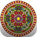 Mandalas Coloring Pages to online paint and black and white pictures for free coloring, Mandalas coloring pages to color now!