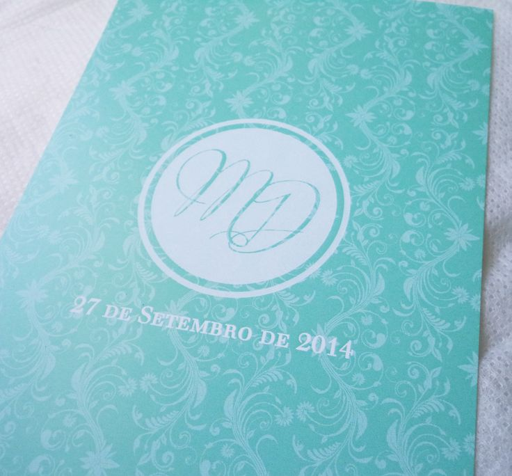 { M & D Mint Green & Silver Invitations } Detalhe: monofolha 10 x 15cm /// envelope c/ etiqueta circular