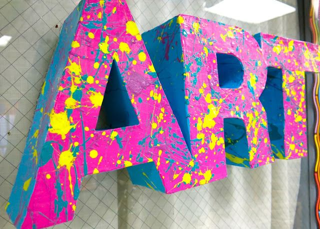 Cassie Stephens: In the Art Room: 3-D Letters!