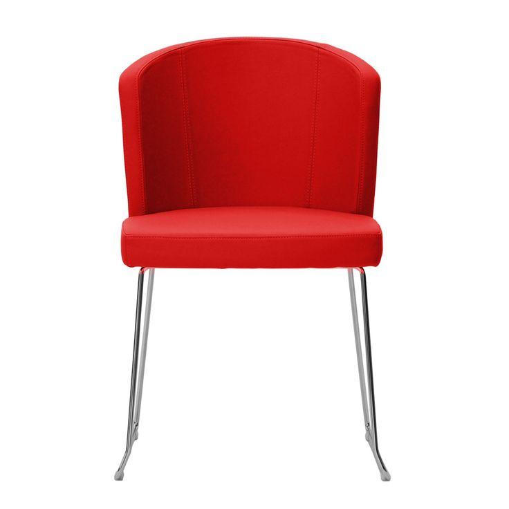 € 149.00 DORIS-S7 #sedia moderna, base in metallo a slitta, sedile e schienale imbottiti, 100% #MadeinItaly. in #offerta prezzo scontata del 50% solo su www.chairsoutlet.com #sedie #rosse #casa #cucina #stile #saldi #offerte #outlet