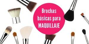 Brochas básicas para maquillaje