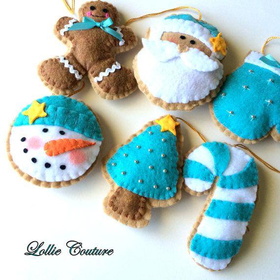 Felt Christmas Ornaments/Felt Christmas Decorations-Felt Ornaments-Christmas…